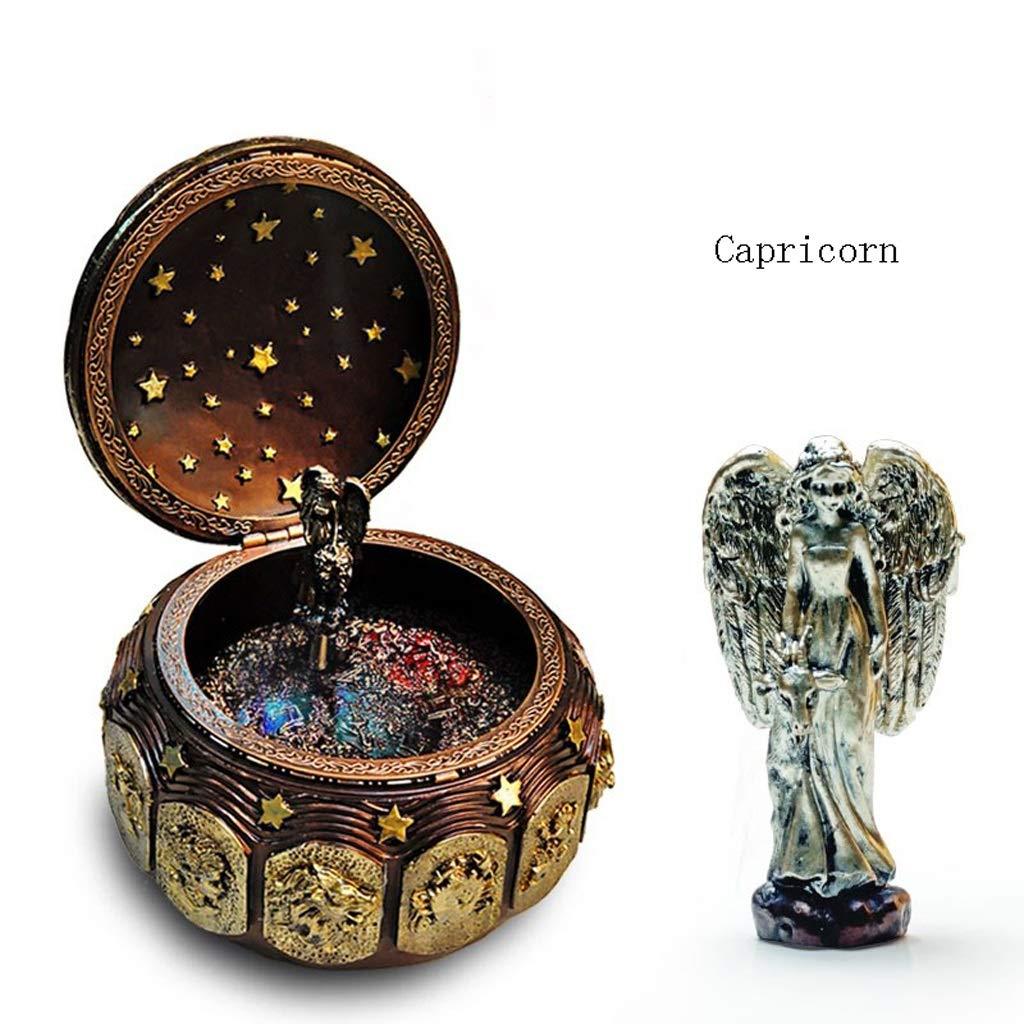 Capricorn Kreative 12 Constellation Resin Music Box, dekorative Bunte Spieluhr Kinder Geburtstag Spieluhren Dekoartikel (color   Virgo)