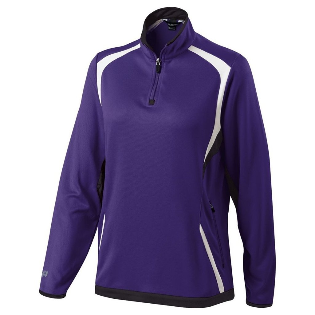 Holloway Ladies Dry Excel Transform Pullover (X-Small, Purple/Black/White) by Holloway