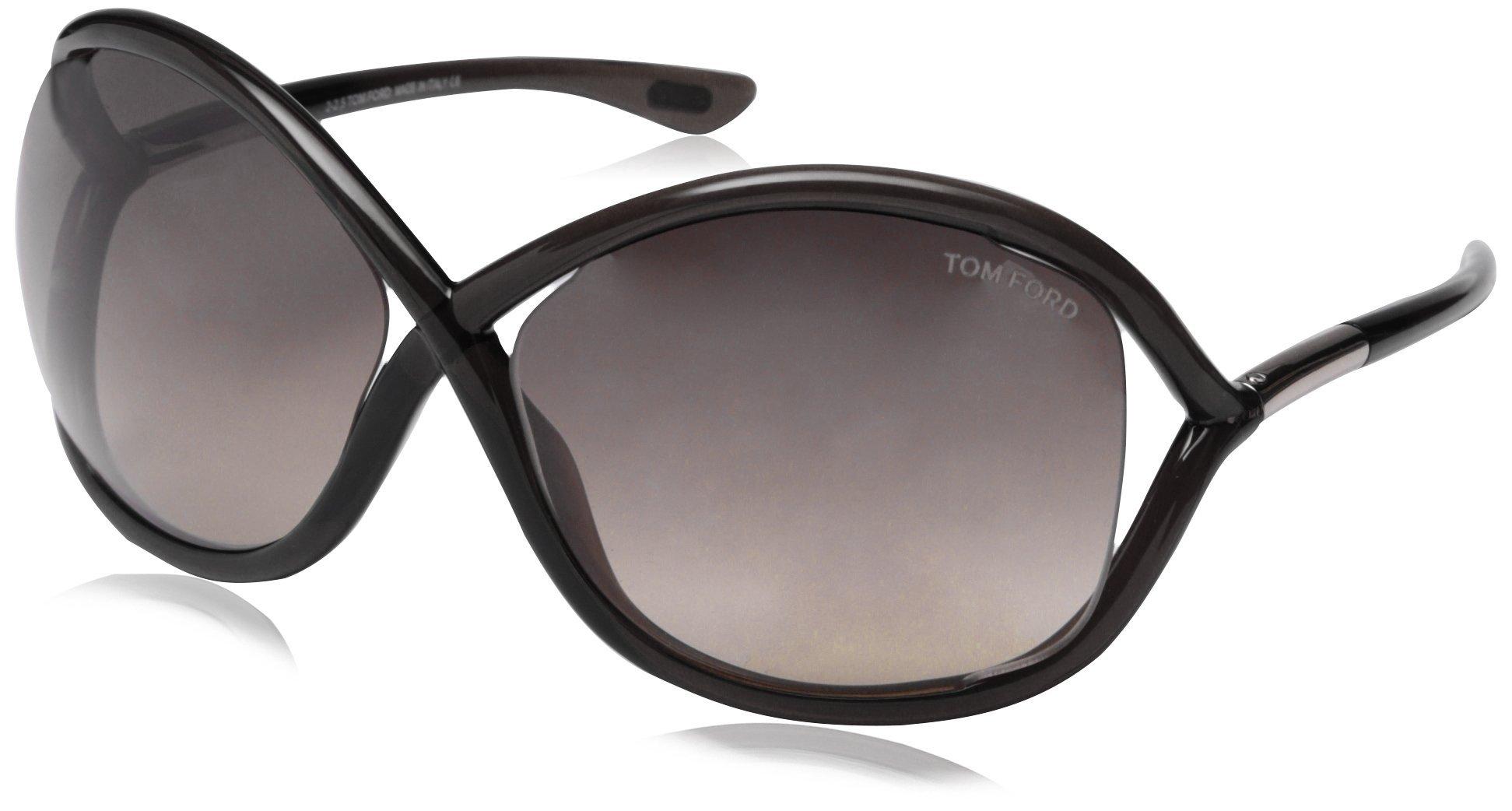 Tom Ford Women's FT0009 Sunglasses, Black