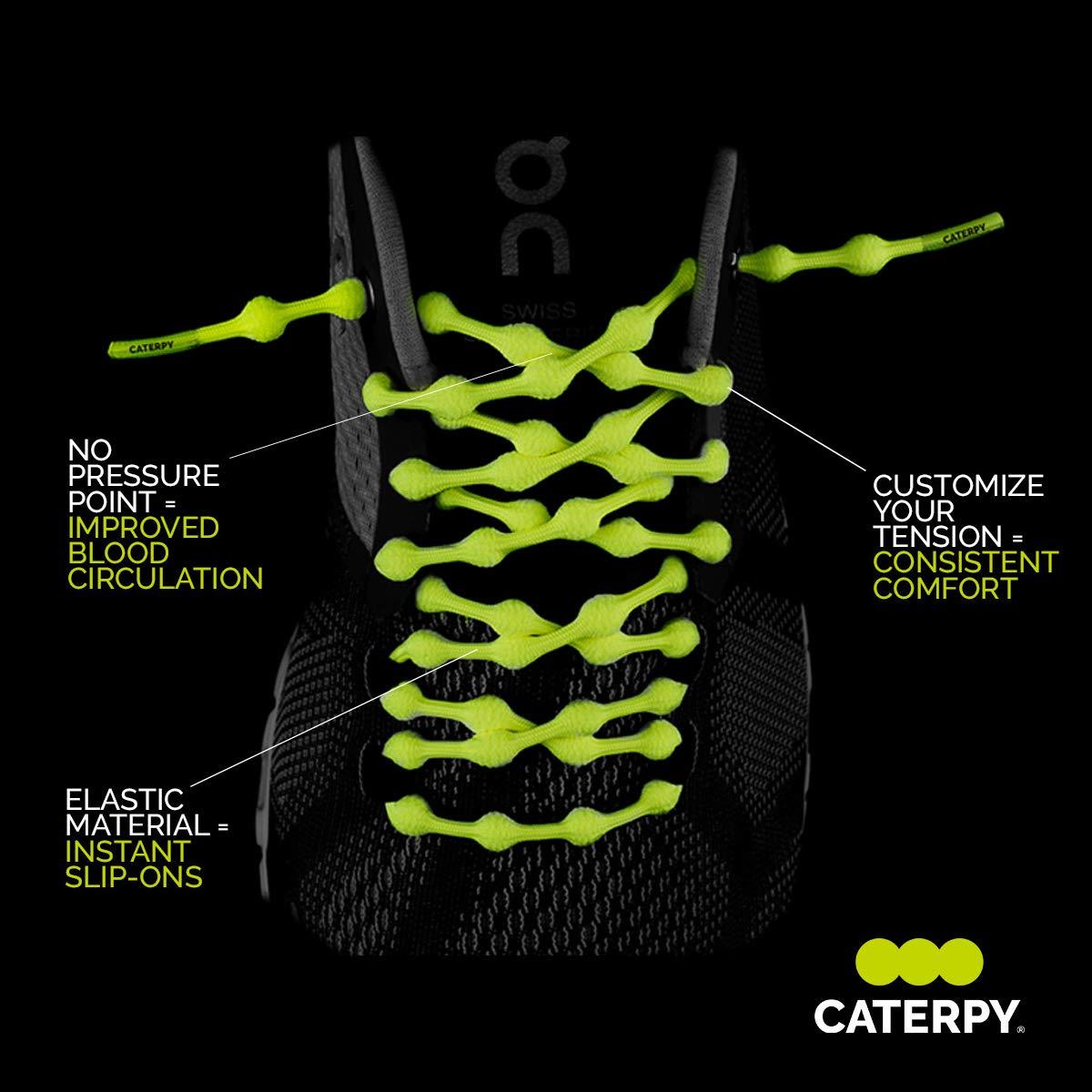 54055089081247 Amazon.com  Caterpy Laces - The Ultimate No Tie Shoelaces (Jaguar Black)   Shoes