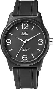 Q&Q Women's Black Dial Resin Band Watch - VR35J019Y - Black
