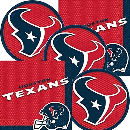 Amazon Com Houston Texans Nfl Football Team Logo Plates And Napkins