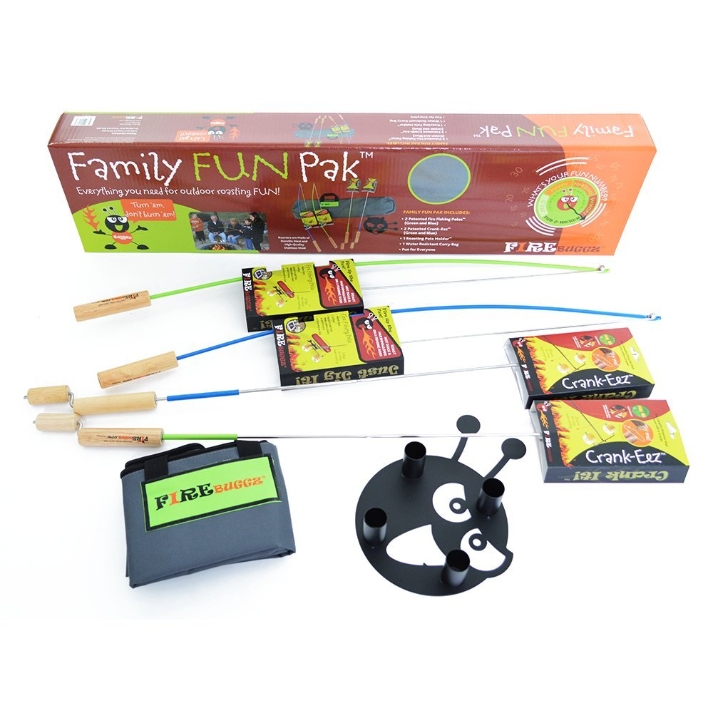 Firebuggz - Fire Fishing Pole Family Fun Set Hot Dog Marshmallow Roasters by Firebuggz B014RPGHPK