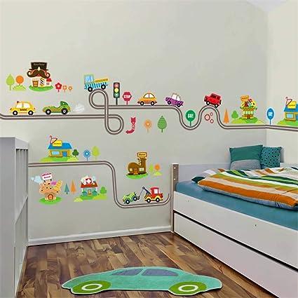 Animaux de la for/êt Stickers Hibou Mur darbre dart Stickers muraux D/écoration Stickers Bricolage pour Les Enfants Chambre Nursery Salon L8192 Type de