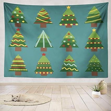 Amazon Com Asoco Tapestry Wall Handing Flat Christmas Tree