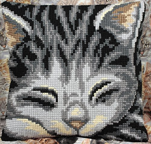 Yasmine Pillow Cross Stitch Kit-15.75x15.75 Chunky Cross Stitch