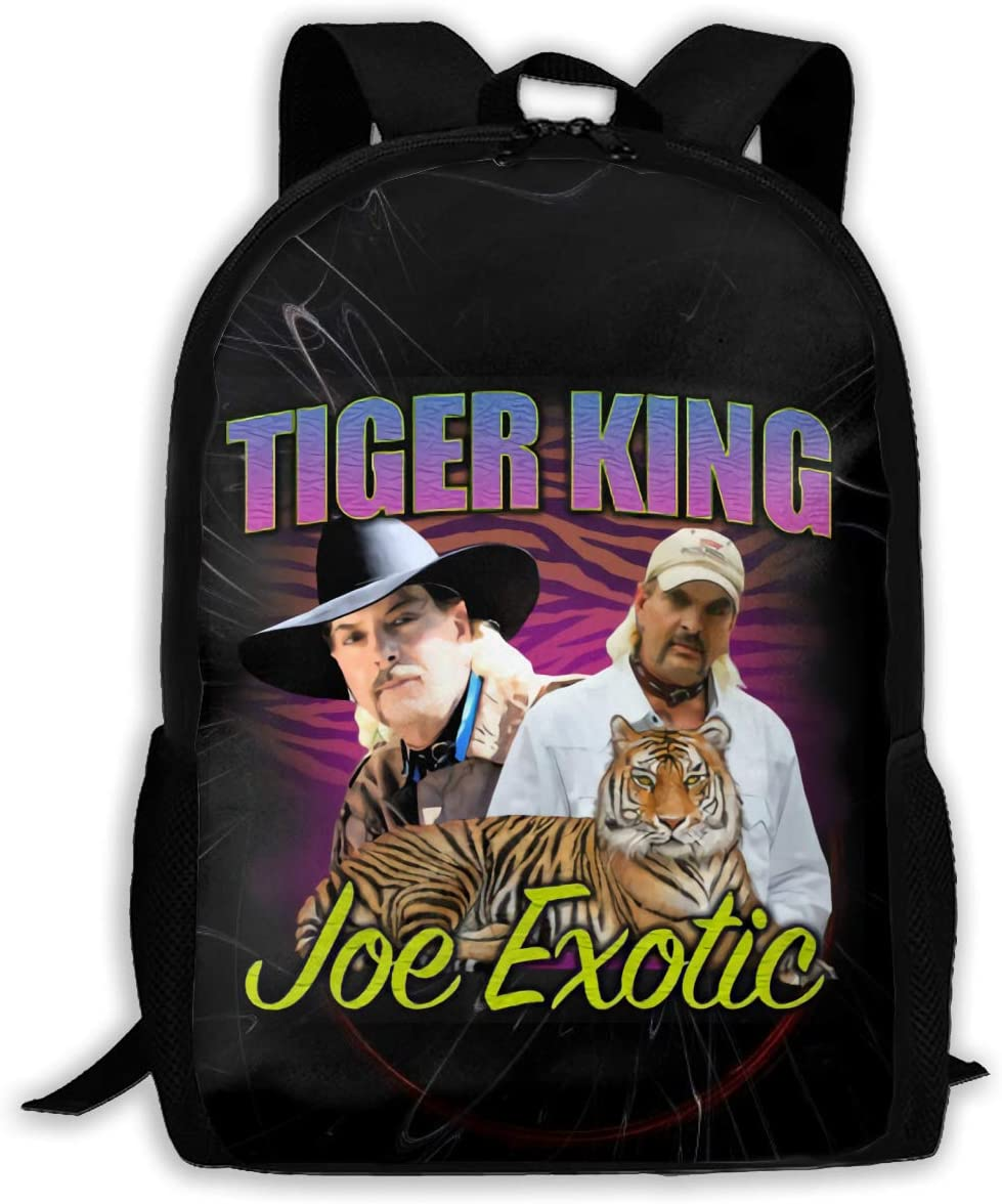 Ssxvjaioervrf Joe Exotic The Tiger King Rucksack Laptop Backpack Casual Day Packs for School Travel Hiking