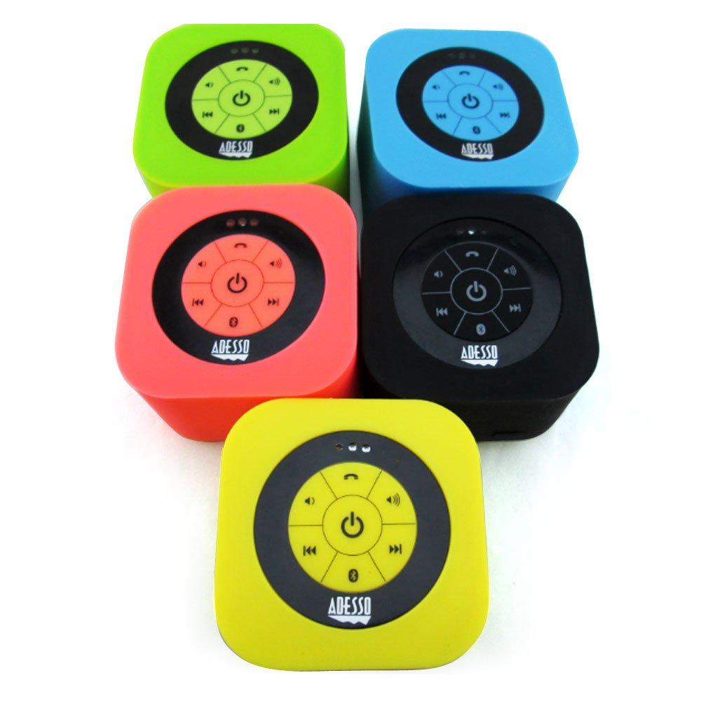 Adesso Bluetooth 3.0 Waterproof Speaker - Retail Packaging - Green