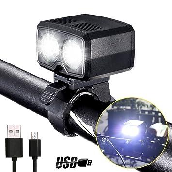Waterproof USB Rechargeable LED Bicycle Headlight Bike Head Light Front Lamp UK