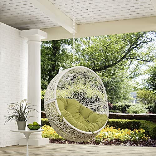 Modway Hide Outdoor Patio Swing Chair Without Stand, White Peridot