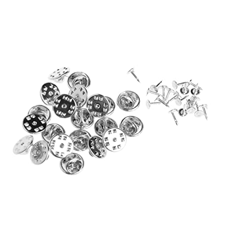 a57597393682 Lamdoo 20pcs DIY Brooch Round Clasps Pin Tie Tacks Blank Pins with Clutch  Back Sliver: Amazon.co.uk: Kitchen & Home
