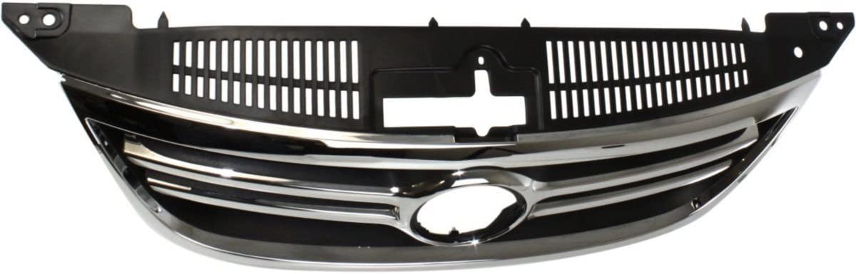 New Front Upper Grille For 2010-2015 Chevrolet Equinox Chrome Shell /& Painted Black Insert GM1200622 25798744