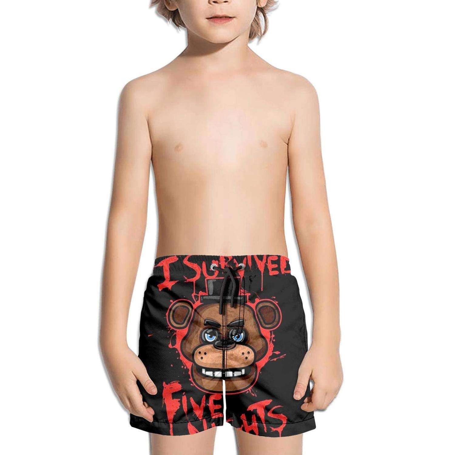 Kids Vintage Adjustable Quick Dry Swimming Trunks Shorts