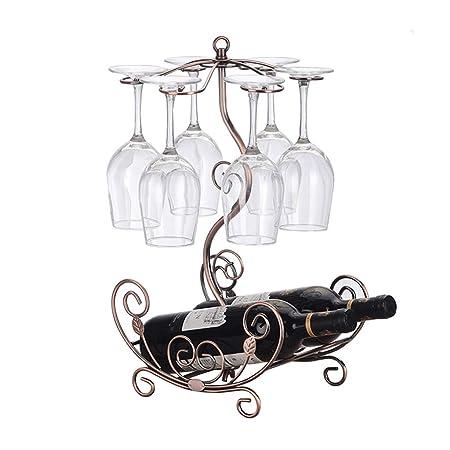 Estante del vino sostenedor del vidrio de vino decoración del ...