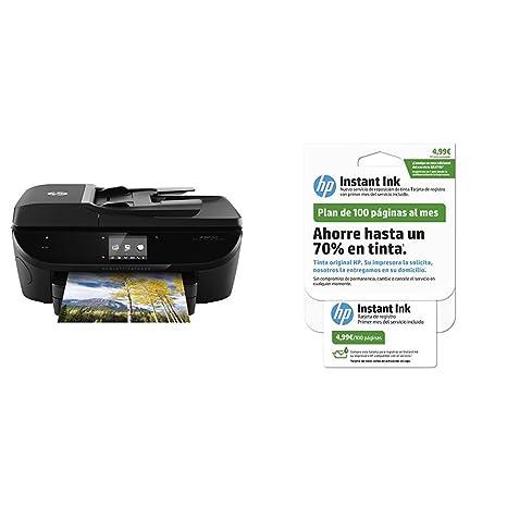 HP Envy 7640 - Impresora multifunción + Tarjeta Instant Ink 100 ...