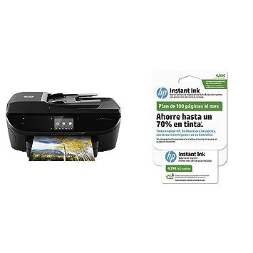 HP Envy Photo 7130 – Impresora multifunción inalámbrica, color negro + HP Instant Ink - Tarjeta de 100 páginas