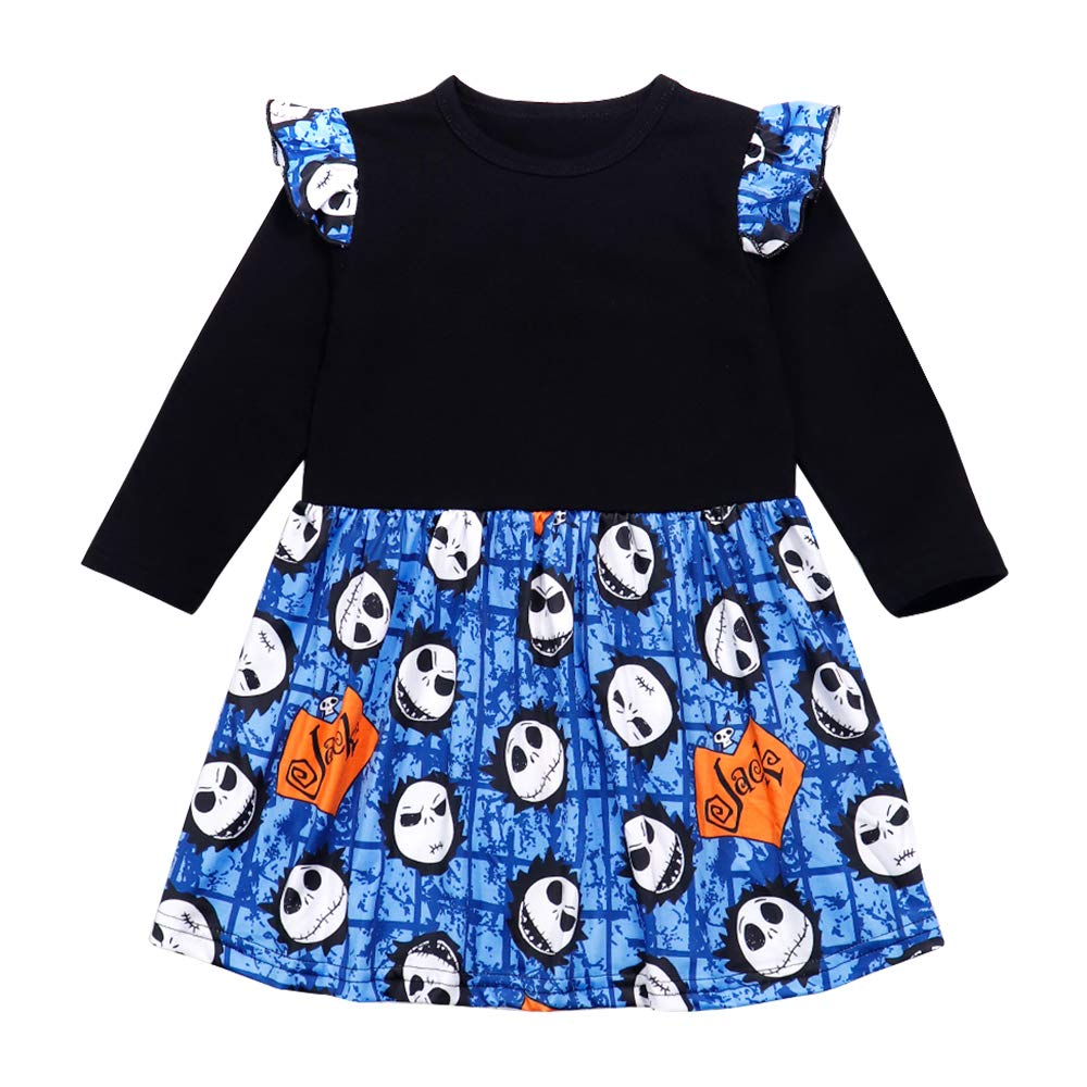 Ttkgyoe Baby M/ädchen Langarm Kleid Rundhals Tier Bedruckte Kleider