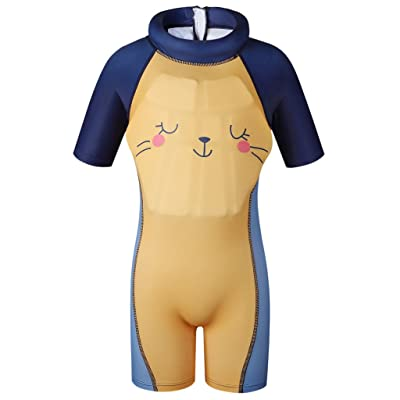 Boys Girls Float Suit Kids Toddler One Piece Shorty Floating Swimsuit Swimwear