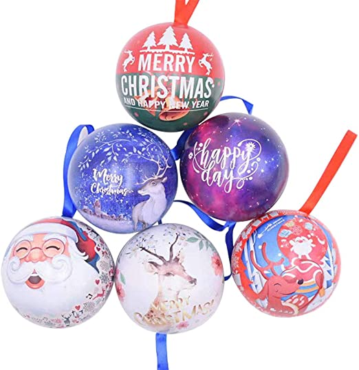 7 cm. Amasawa 6 Bolas navide/ñas 2.7 Pulgadas decoraci/ón de /árbol de Navidad