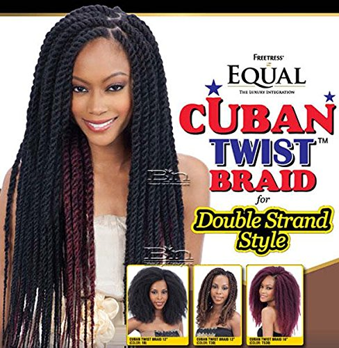 Shake N Go Equal CROCHET BRAID Cuban Twist for Double Strand Style 12