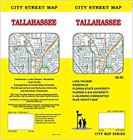 Map Of Tallahassee Florida.Tallahassee Florida Street Map Gm Johnson 9781770685659 Amazon