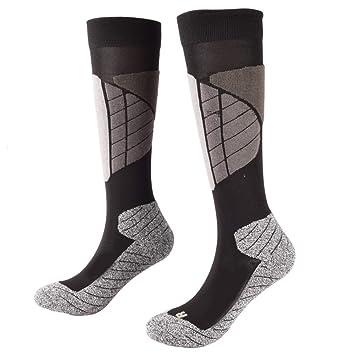 LMHZTMA Calcetines de esquí al Aire Libre Hombres Mujeres Calcetines térmicos Medias de Espesamiento Calcetines de