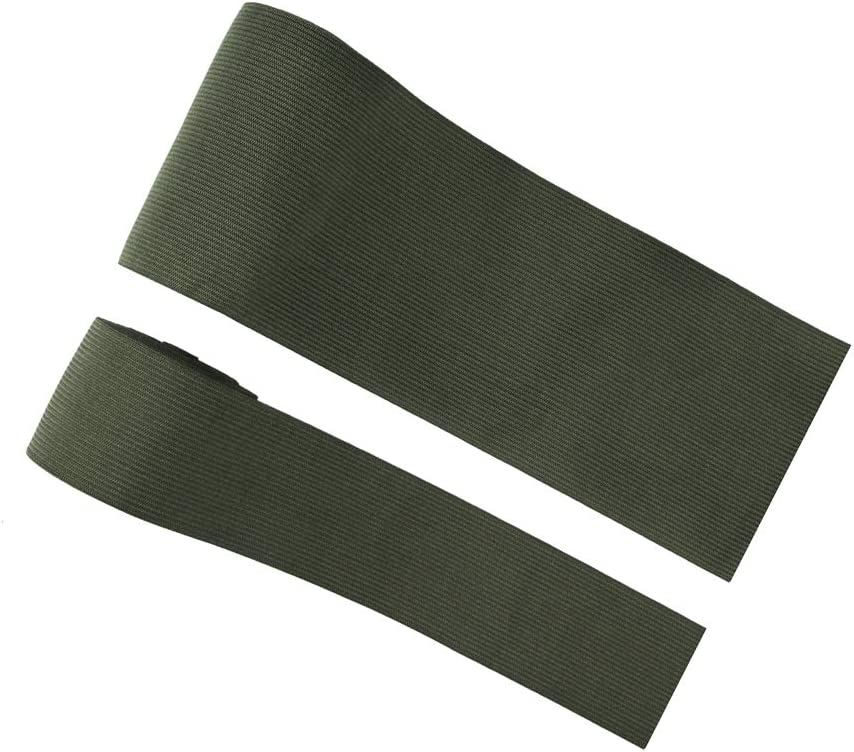 Lama333-3 lunghezza 3 m 50mm Wide ArmyGreen Elastico per lavori a maglia