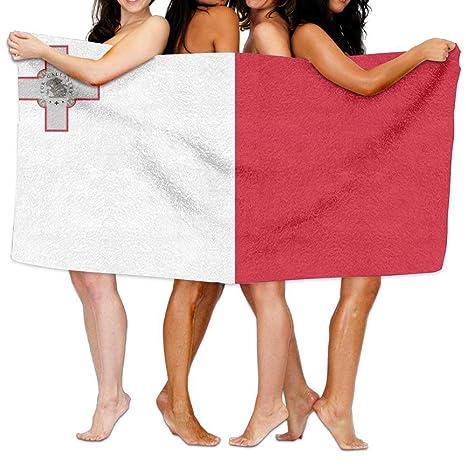 ONETAIWA - Toalla de Playa, diseño de Bandera de Malta de 203 x 130 cm