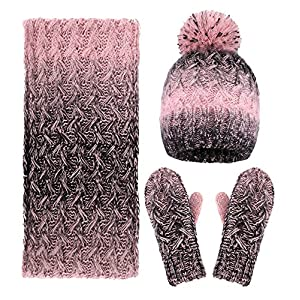 Arctic Paw Adult 3 Piece Winter Bundle - Hat, Scarf, and Mitten Set