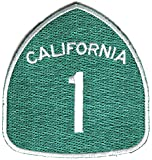 California Route 1 Patch - By Ivamis Trading - 3x3 inch