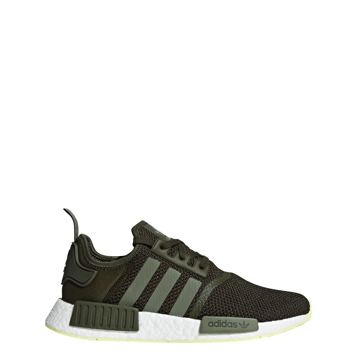reputable site ed7b3 24d1d Galleon - Adidas Mens NMD R1 Casual Sneakers,Night CargoBase GreenSemi  Frozen Yellow, 10(M) US