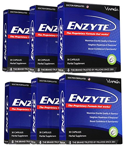 Enzyte®| Doctor-Formulated for a Boost in Blood Flow for Natural Male Enhancement with Asian Ginseng, Ginkgo Biloba, Grape Seed Extract - 180 -