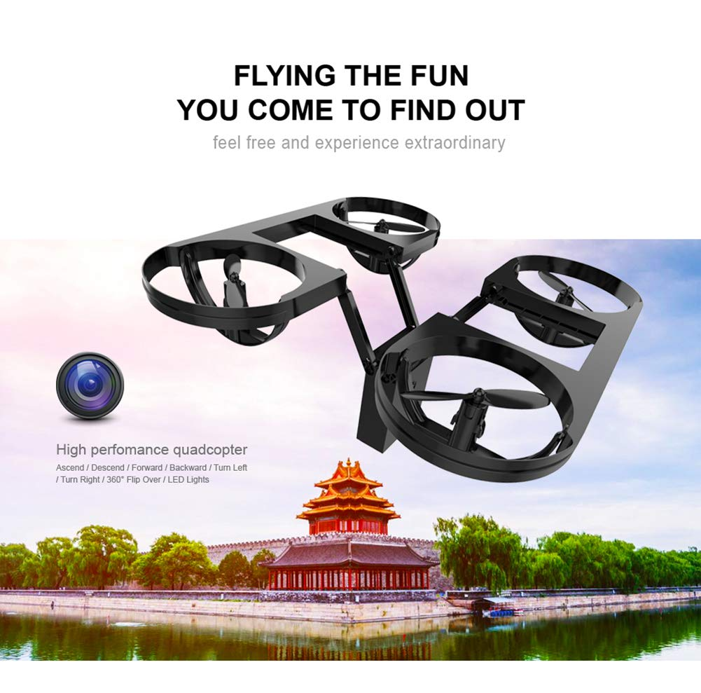 Ydq Drohne 720P,FPV Echtzeit WiFi RC Gravity Control RC WiFi RTF Quadcopter Mit Flugplan Route App Control & Höhe Halten Funktion 2067e1