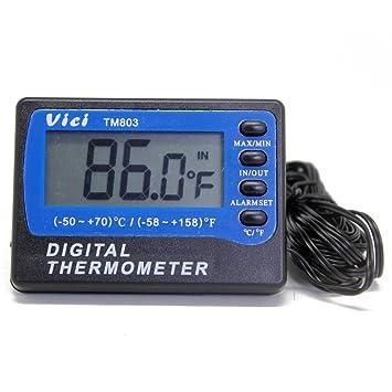 TM803 termómetro digital para nevera congelador Termómetro sensores de 2 ° ° C ± a 1ºC