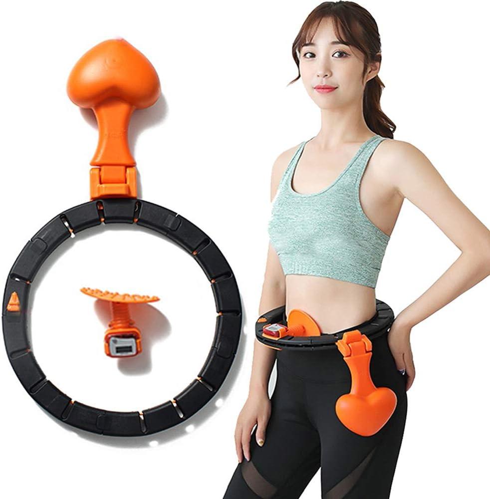 SKTWOE Conjunto del Aro De Hula, Desmontable Portátil Yoga De La Cintura del Músculo Abdominal Pérdida De Peso Formación del Aro De Hula, Conveniente para Los Deportes, La Danza Y Fitness,a