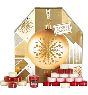 Yankee Candle ADVENT CALENDAR 2017 Couronne parfumée Tea light Candles Set