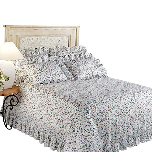 Ruffled Lightweight Bedspread Machine Washable