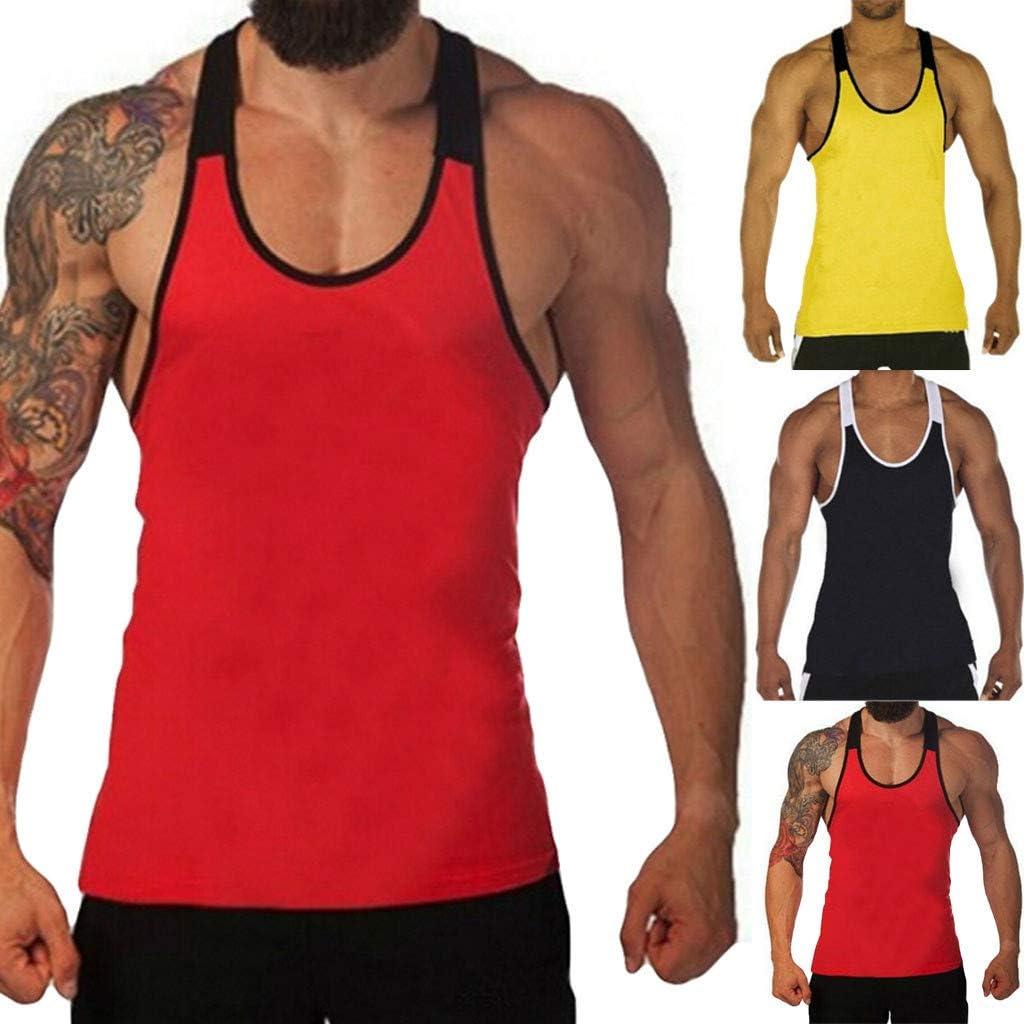 Men Splicing Stripe Sports Vest Striped Splice Large Open-Forked Male Vest,2019 New