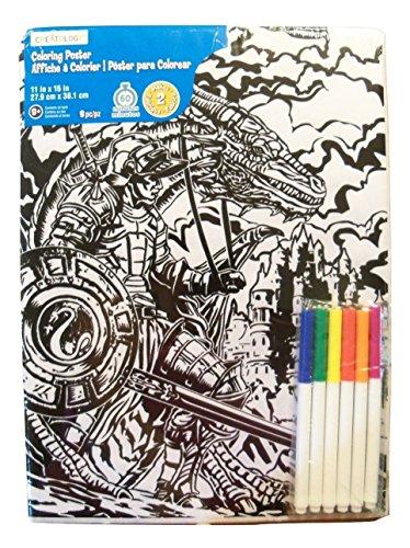 Creatology 2 Poster Set ~ A Knight's Tale (Castle Scene + Dragon in Flight; 11