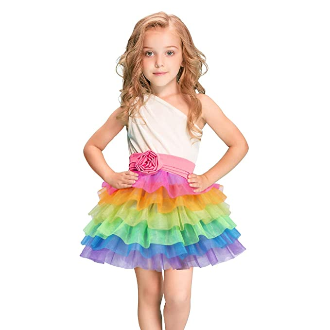 Rainbow Tulle Skirts for Girls Women Unicorn Tutu Skirt for Party Sports  Dancing Birthday Dress Up Costumes