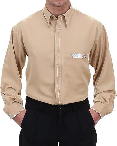 Camisa de diseño en Color marrón, Almendra HK, Camisa ...