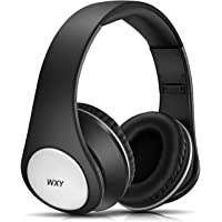 WXY Wireless Bluetooth Headphones Over Ear, Stereo Wired Headsets V5.0 with Microphone, Foldable & Lightweight, Support iPhone/Samsung/Huawei/PC/Tablets – Rose Gold