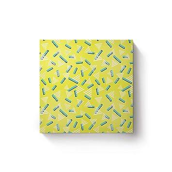 Amazon.de: Prime Leader Leinwanddruck für Wohnzimmer Gelb Weiß Grün ...