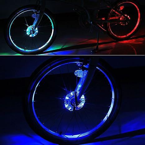 Batería cubo de rueda bicicleta luces, bodecin resistente al agua ...