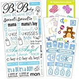 Baby Shower Stickers Set Boy -- Over 140 Deluxe Stickers for Baby Shower Decorations and Favors