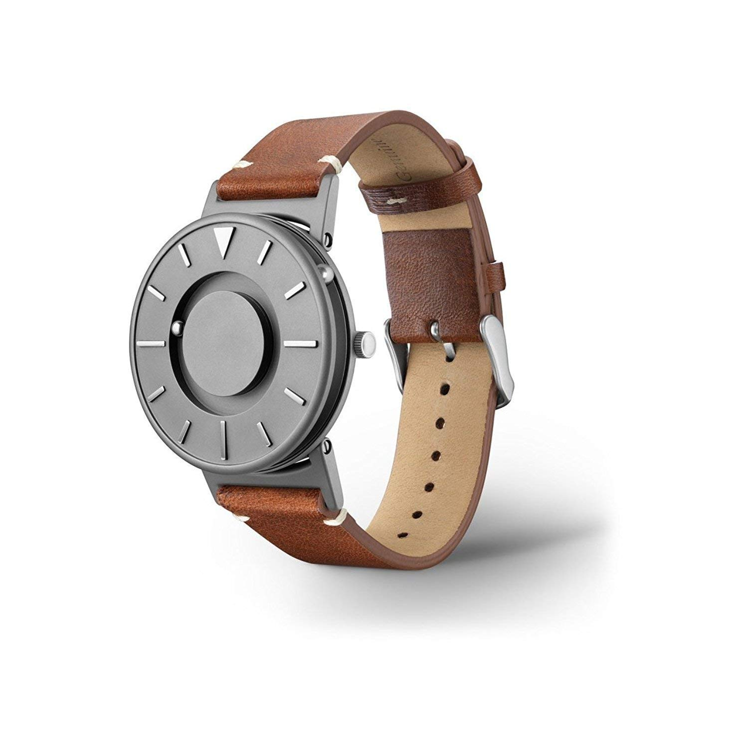 EONE Bradley Titanium Watch Classic Italian Brown Leather