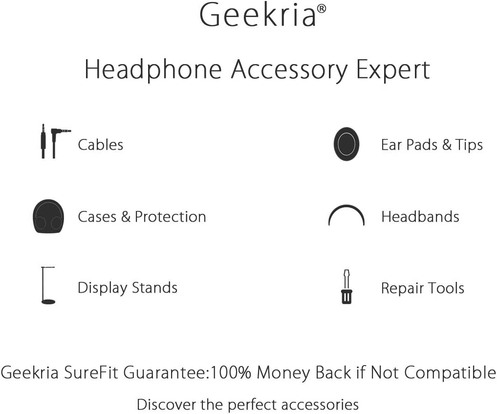 Compatible with Sony WI1000X H700 C400 Sbh70 EX750BT Headphone and More Protective Hard Shell Headset Travel Bag Geekria UltraShell Headset Carrying Case