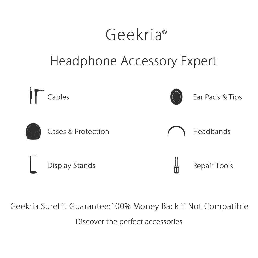 Geekria Type C Around-Ear II Headphones with Microphone and Volume Control Works with Apple 5.6ft QC25 SoundTrue USB-C Audio Cable Replacement for Bose QuietComfort QC35 Android Devices