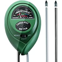 3-in-1 Soil Tester for Moisture, Light and pH A Must Have for Gardening Tools, Lawn, Farm, Plants and Herbs, Indoor and Outdoors Soil Tester