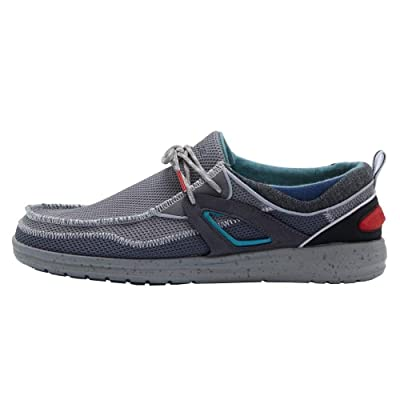 Hey Dude Men's Wally Storm Dark Grey, Size 12 | Loafers & Slip-Ons